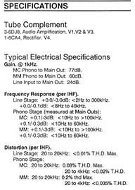 Counterpoint SA-3000 Pre Amplifier  Spec10