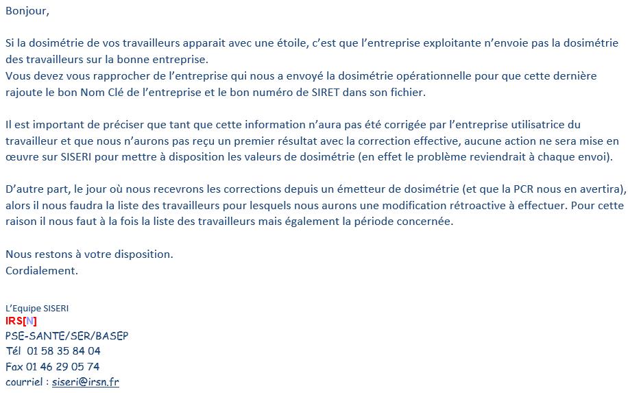 SISERI - Détails non-accessibles * 2019-111