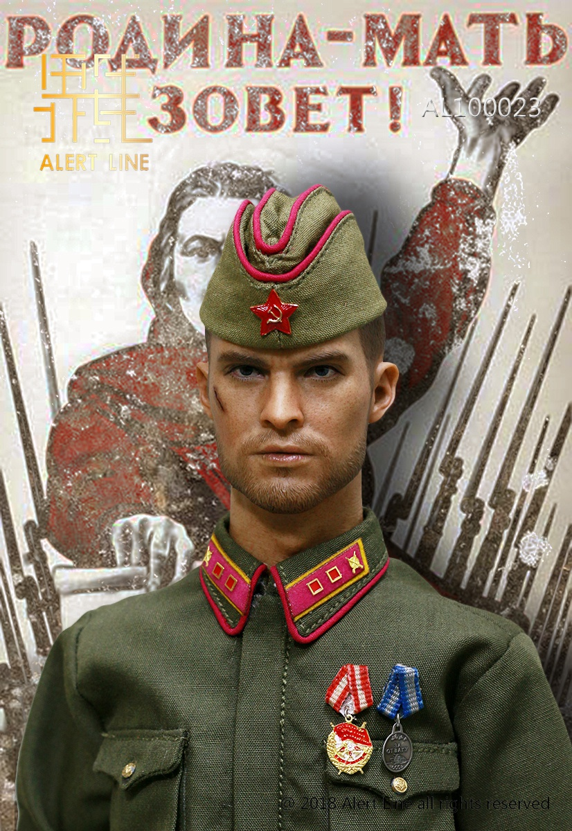 Soviet - NEW PRODUCT: Alert Line boundary play mode: 1/6 World War II 1942 - Soviet Red Army infantry lieutenant officer set (AL100023#) 021