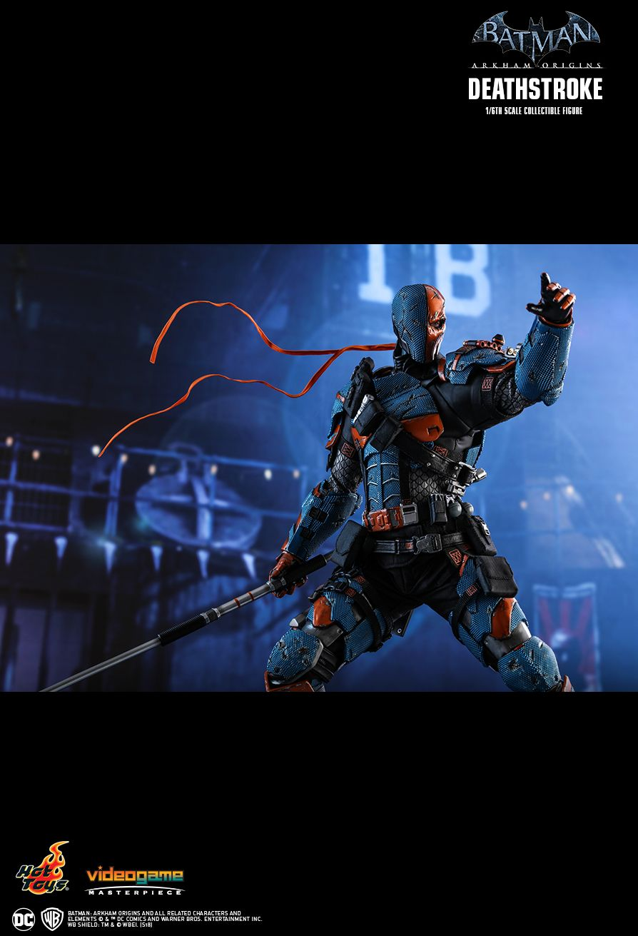 Batman - NEW PRODUCT: HOT TOYS: BATMAN: ARKHAM ORIGINS DEATHSTROKE 1/6TH SCALE COLLECTIBLE FIGURE 1028