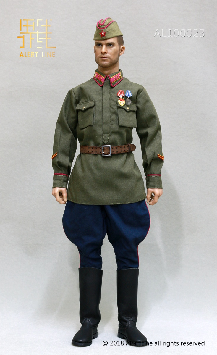 Soviet - NEW PRODUCT: Alert Line boundary play mode: 1/6 World War II 1942 - Soviet Red Army infantry lieutenant officer set (AL100023#) 1201