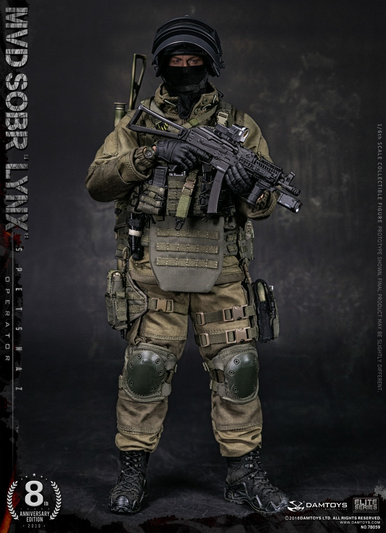 NEW PRODUCT:  DAMTOYS 8th Anniversary Edition: 1/6 RUSSIAN SPETSNAZ MVD SOBR LYNX (78059) 13432810