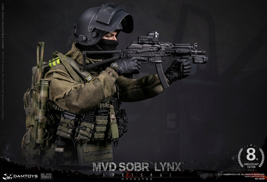 NEW PRODUCT:  DAMTOYS 8th Anniversary Edition: 1/6 RUSSIAN SPETSNAZ MVD SOBR LYNX (78059) 13433010