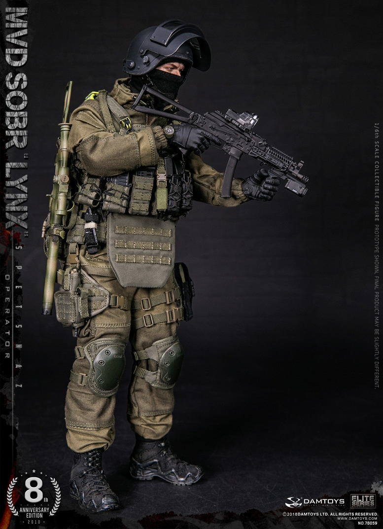 NEW PRODUCT:  DAMTOYS 8th Anniversary Edition: 1/6 RUSSIAN SPETSNAZ MVD SOBR LYNX (78059) 13433110