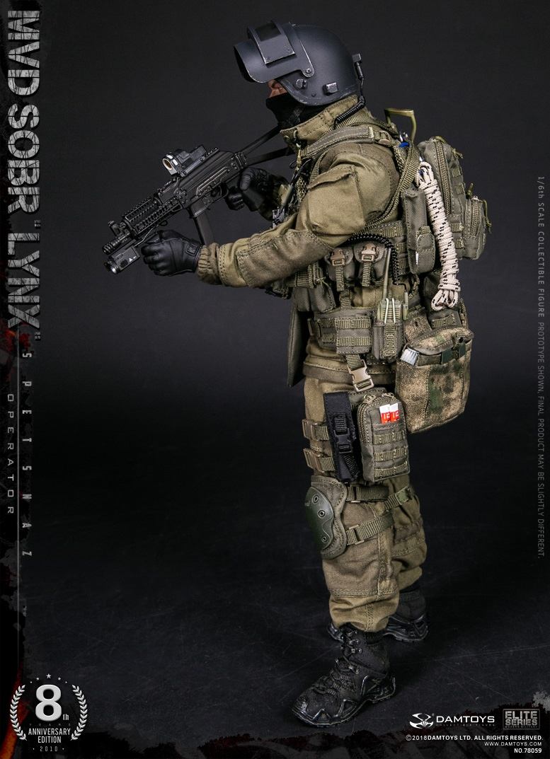 NEW PRODUCT:  DAMTOYS 8th Anniversary Edition: 1/6 RUSSIAN SPETSNAZ MVD SOBR LYNX (78059) 13433610