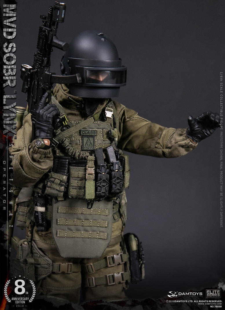 NEW PRODUCT:  DAMTOYS 8th Anniversary Edition: 1/6 RUSSIAN SPETSNAZ MVD SOBR LYNX (78059) 13433611