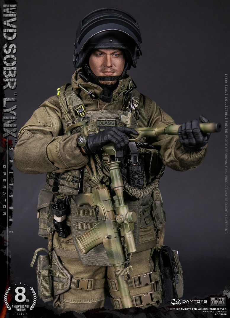 NEW PRODUCT:  DAMTOYS 8th Anniversary Edition: 1/6 RUSSIAN SPETSNAZ MVD SOBR LYNX (78059) 13434310