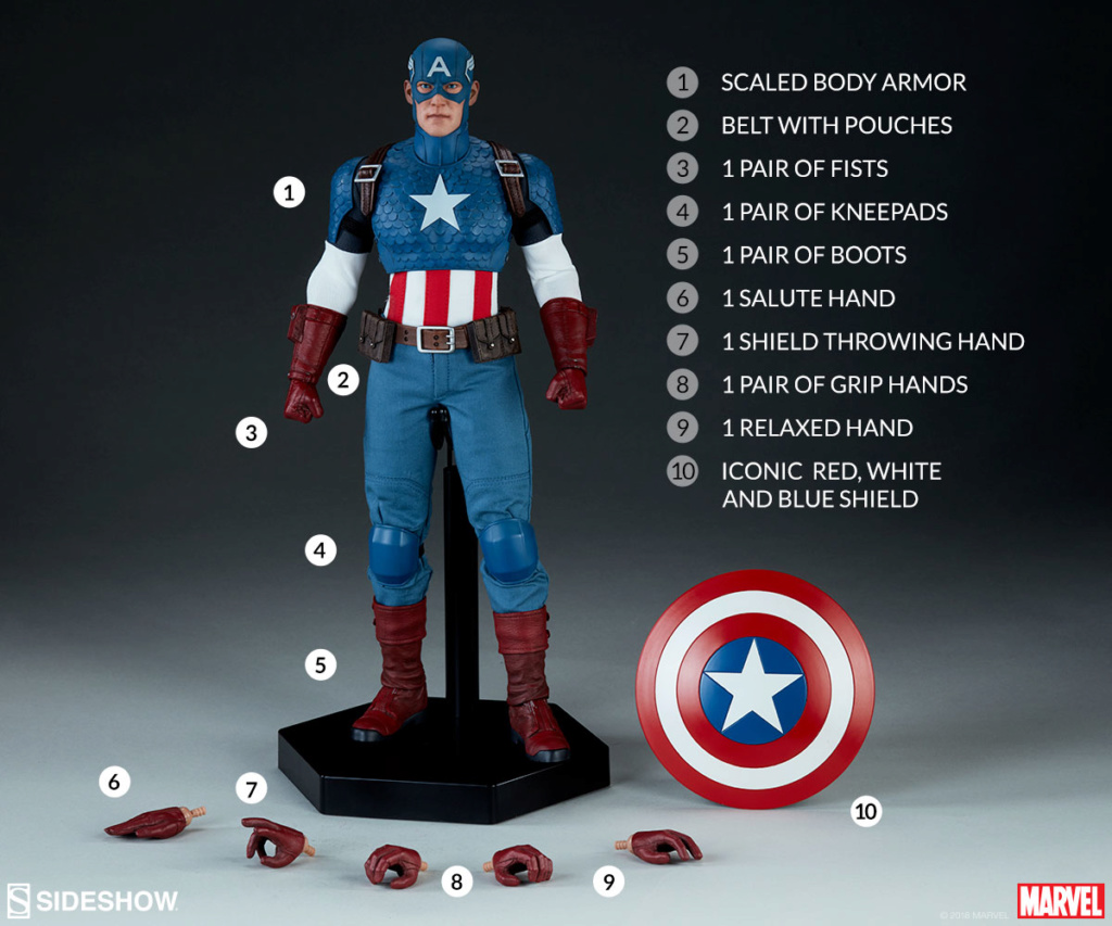captainamerica - NEW PRODUCT: SIDESHOW COLLECTIBLES: CAPTAIN AMERICA 1/6 SCALE FIGURE 1931