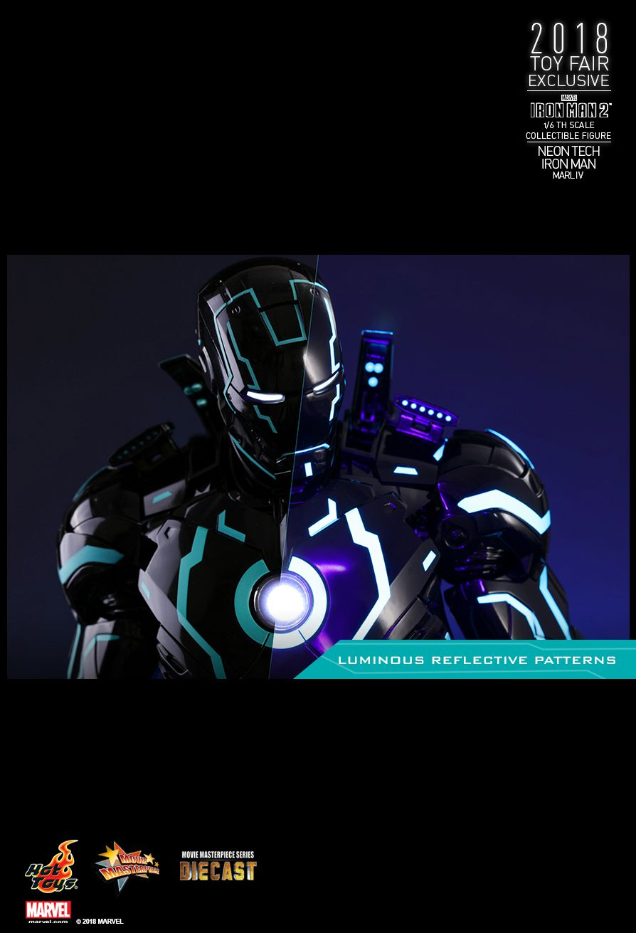IronMan - NEW PRODUCT: IRON MAN 2 NEON TECH IRON MAN MARK IV 1/6TH SCALE COLLECTIBLE FIGURE 2114