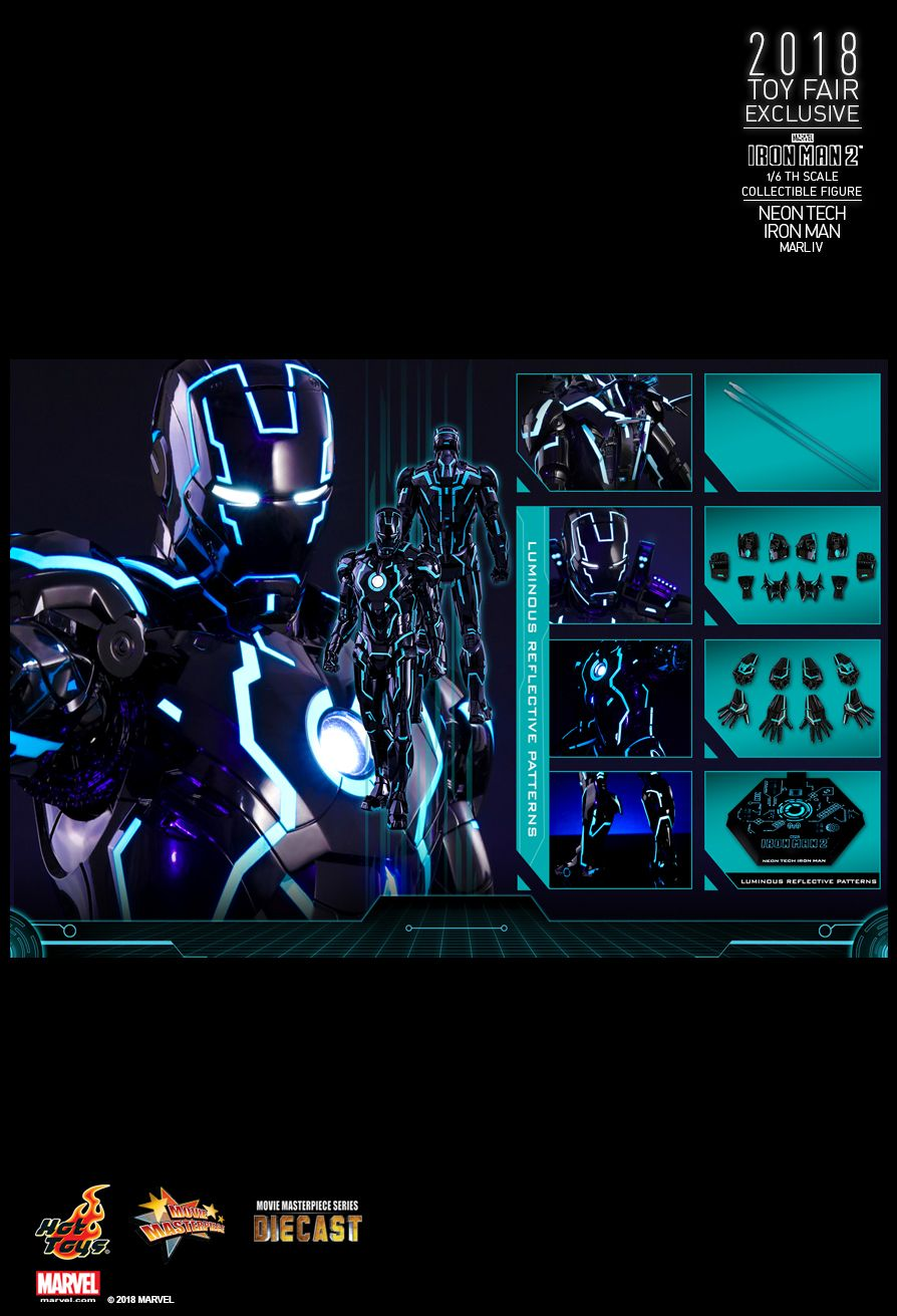 IronMan - NEW PRODUCT: IRON MAN 2 NEON TECH IRON MAN MARK IV 1/6TH SCALE COLLECTIBLE FIGURE 2214