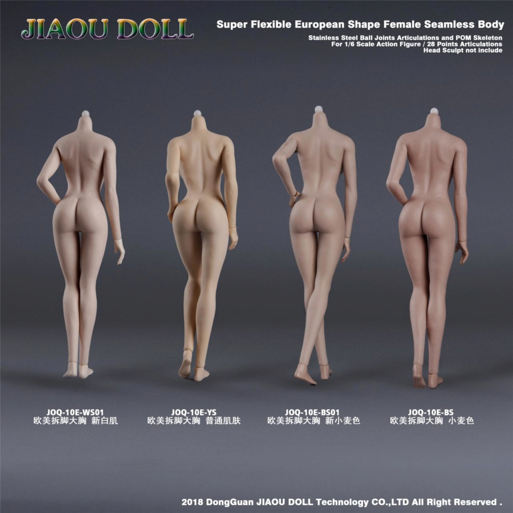 body - NEW PRODUCT: JIAOU DOLL 1/6 European Shape Female Nude Body Action Figure (possibly NSFW) 239