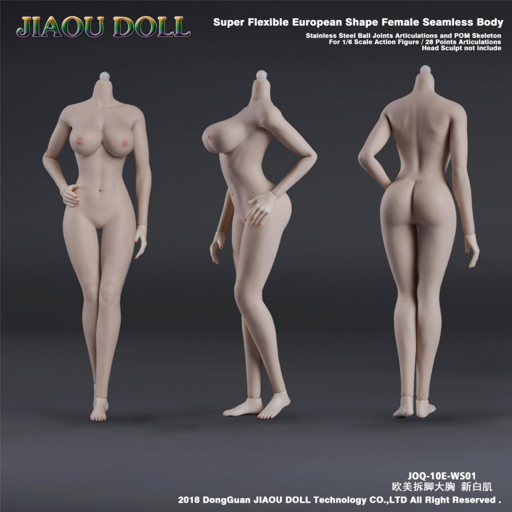 body - NEW PRODUCT: JIAOU DOLL 1/6 European Shape Female Nude Body Action Figure (possibly NSFW) 337