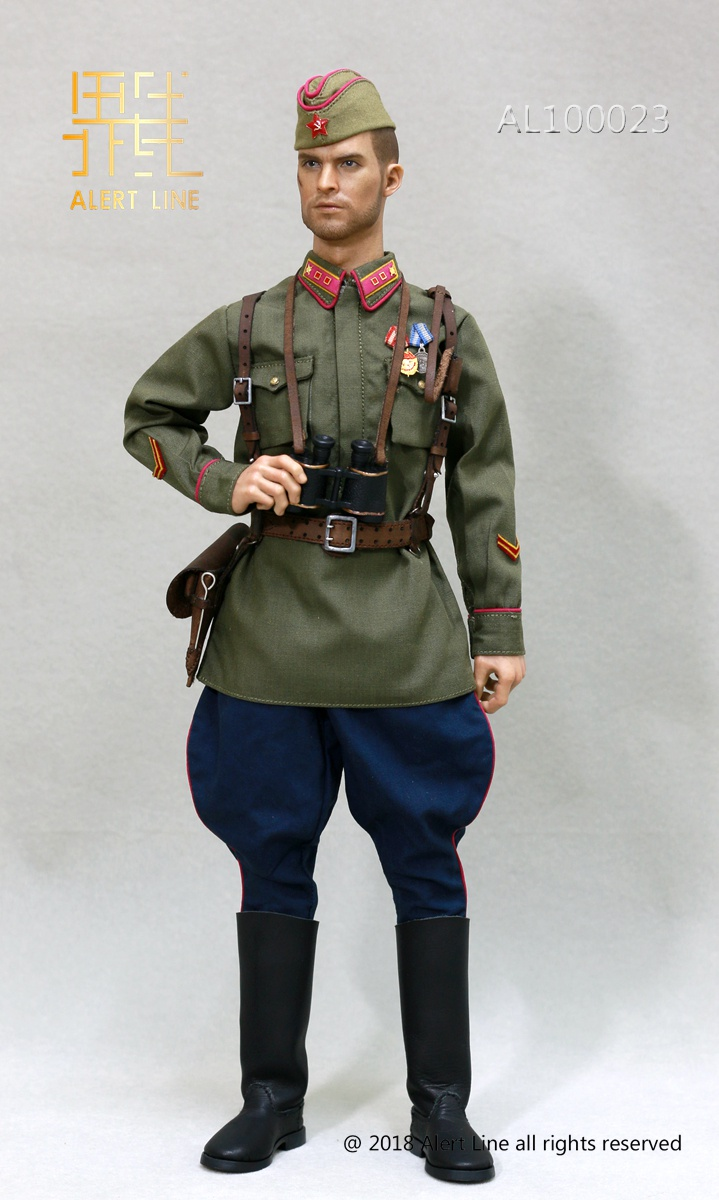Soviet - NEW PRODUCT: Alert Line boundary play mode: 1/6 World War II 1942 - Soviet Red Army infantry lieutenant officer set (AL100023#) 4123