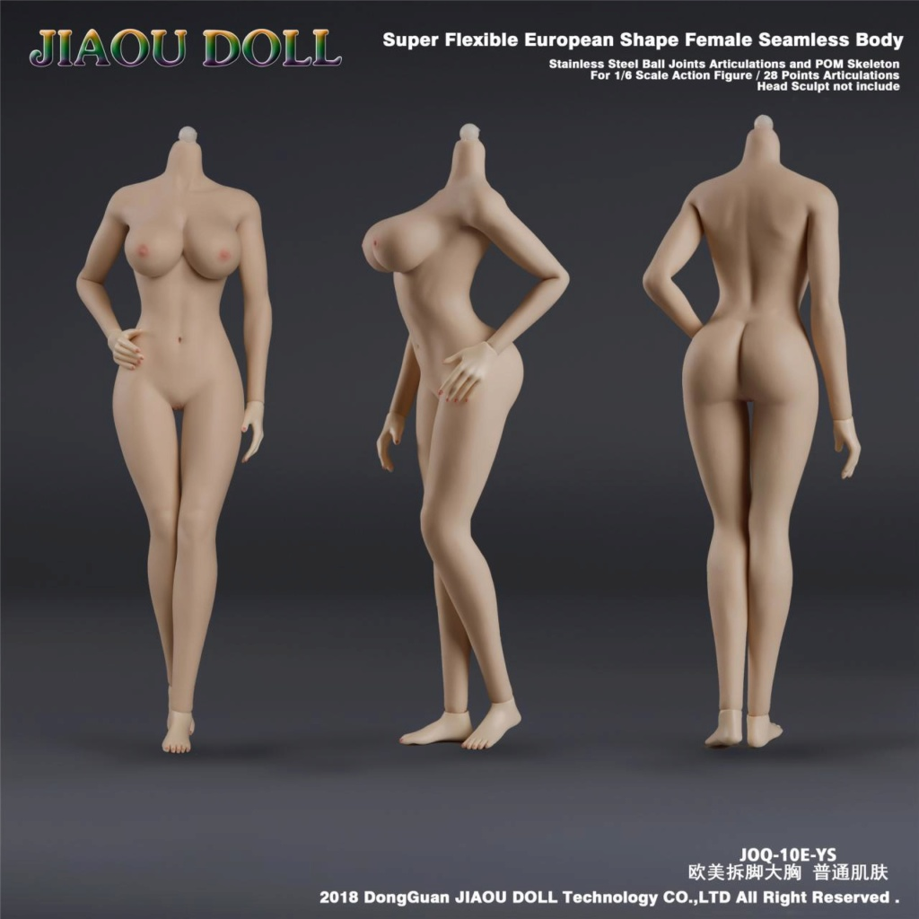 body - NEW PRODUCT: JIAOU DOLL 1/6 European Shape Female Nude Body Action Figure (possibly NSFW) 436