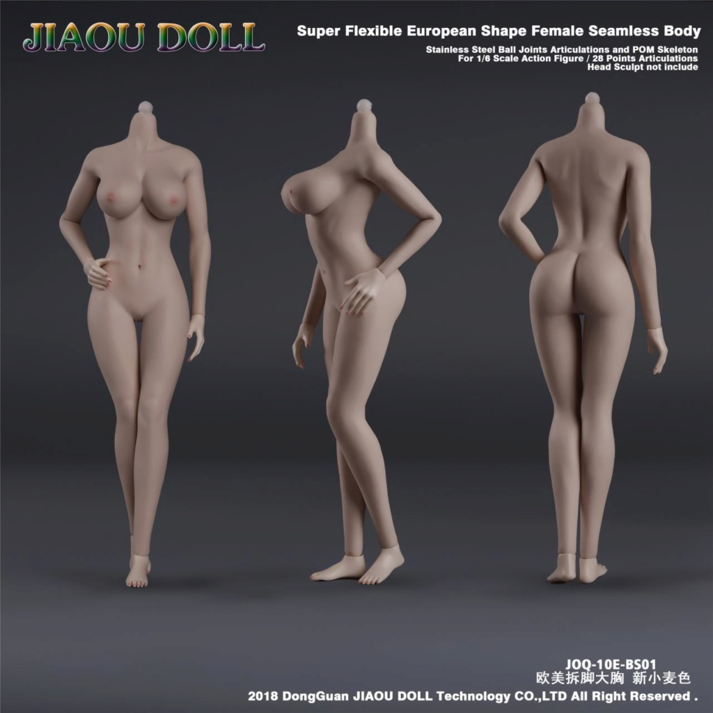 body - NEW PRODUCT: JIAOU DOLL 1/6 European Shape Female Nude Body Action Figure (possibly NSFW) 536