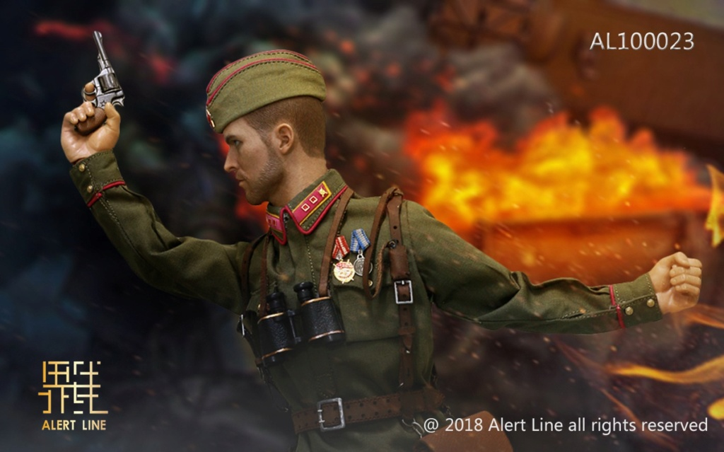 Soviet - NEW PRODUCT: Alert Line boundary play mode: 1/6 World War II 1942 - Soviet Red Army infantry lieutenant officer set (AL100023#) 699