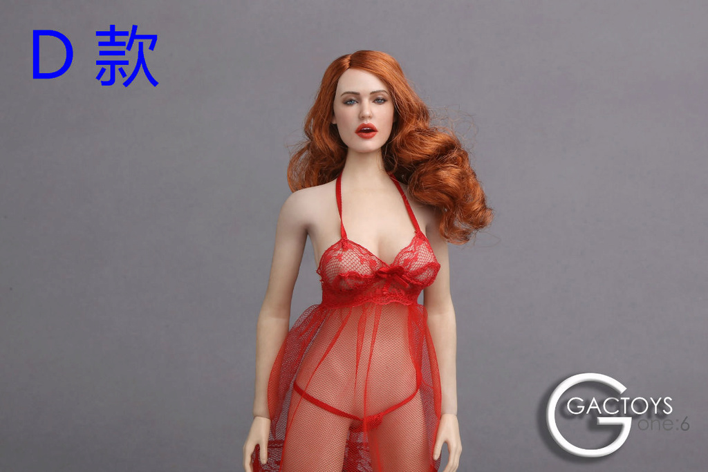NEW PRODUCT: GACTOYS new; 1/6 European and American expression female head carving (#GC017) 716