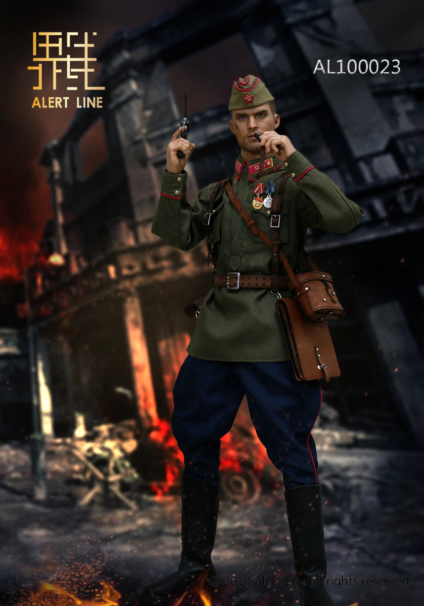 Soviet - NEW PRODUCT: Alert Line boundary play mode: 1/6 World War II 1942 - Soviet Red Army infantry lieutenant officer set (AL100023#) 796