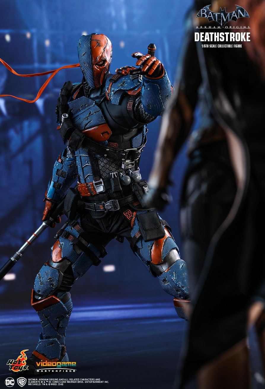 Batman - NEW PRODUCT: HOT TOYS: BATMAN: ARKHAM ORIGINS DEATHSTROKE 1/6TH SCALE COLLECTIBLE FIGURE 829