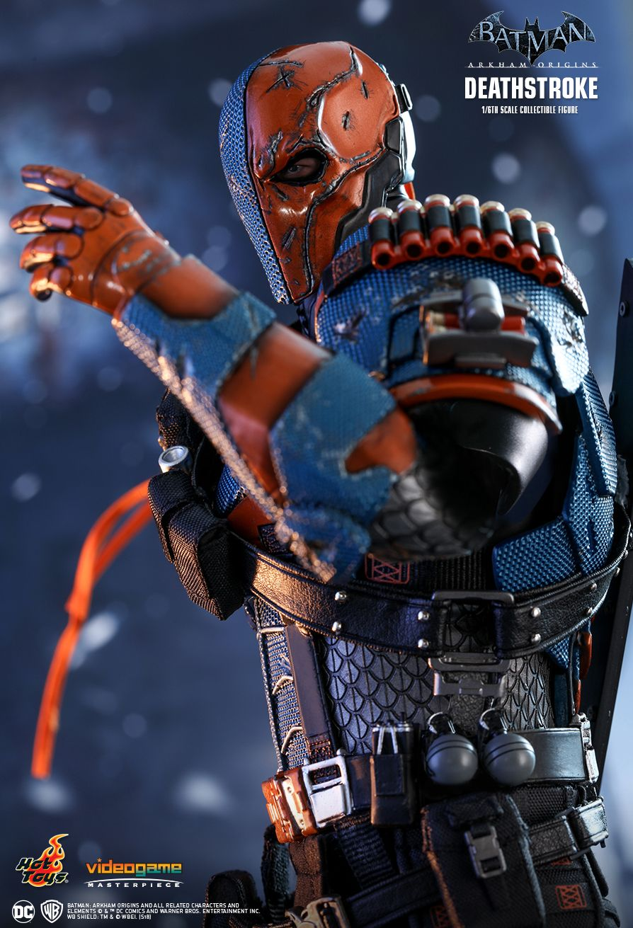 Batman - NEW PRODUCT: HOT TOYS: BATMAN: ARKHAM ORIGINS DEATHSTROKE 1/6TH SCALE COLLECTIBLE FIGURE 928