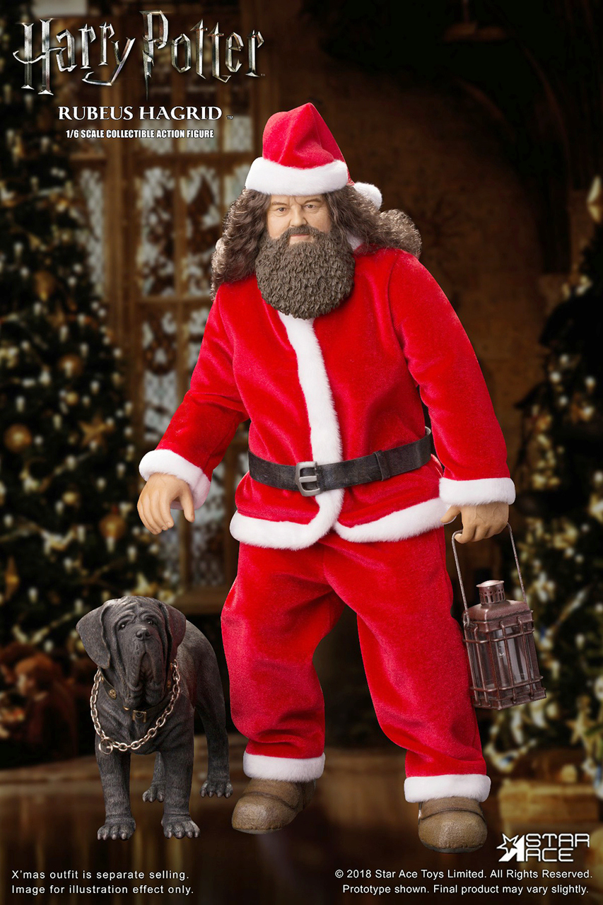 Dog - NEW PRODUCT: Star Ace: Harry Potter and the Sorcerer's Stone Rubeus Hagrid (Santa) 1/6 Scale Figure Stl10011