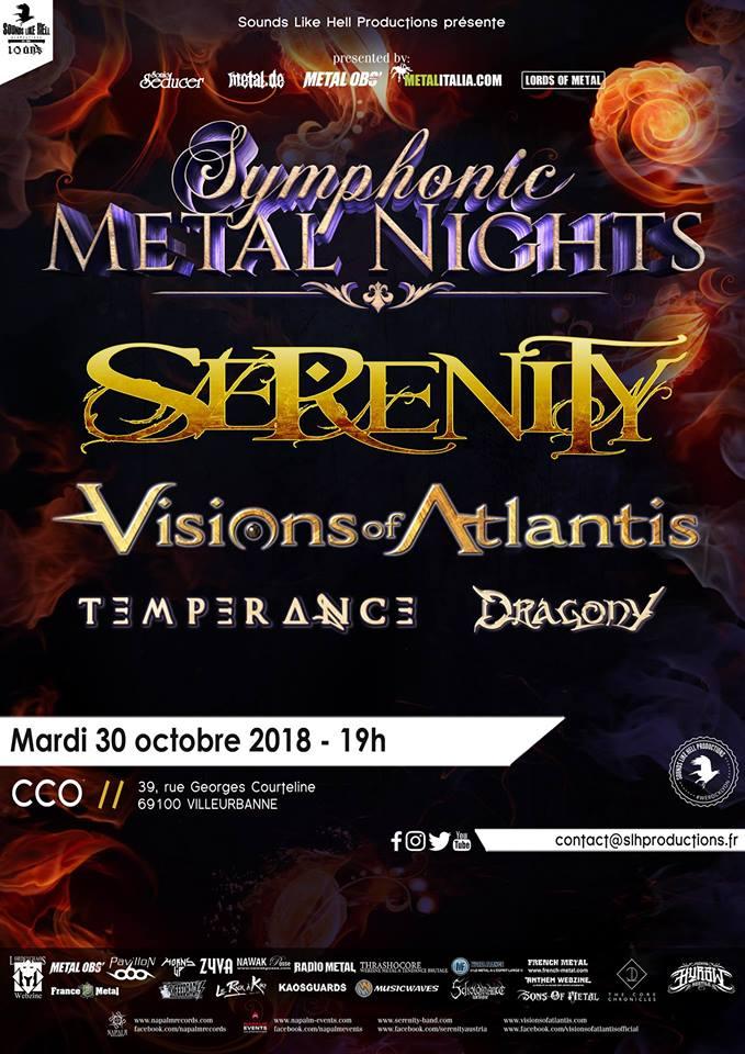 Serenity, Visions Of Atlantis, Dragony et Temperance à Lyon 29792810