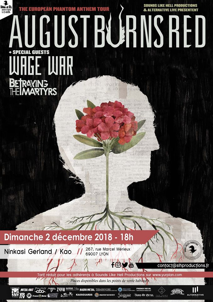 August Burns Red, Wage War et Betraying The Martyrs à Lyon ! 35347212