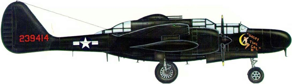 "P-61A-10 Black Widow SN 42-5598 ""Sleepy Time Gal II"" Cpt. Ernest Thomas - 6th NFS - 1945 (1/32) 00112"
