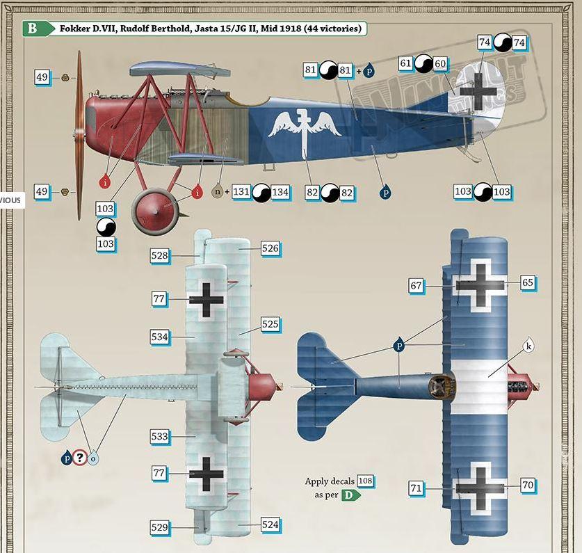 Fokker D. VII - Wingnut 1/32 [TERMINE] 0110