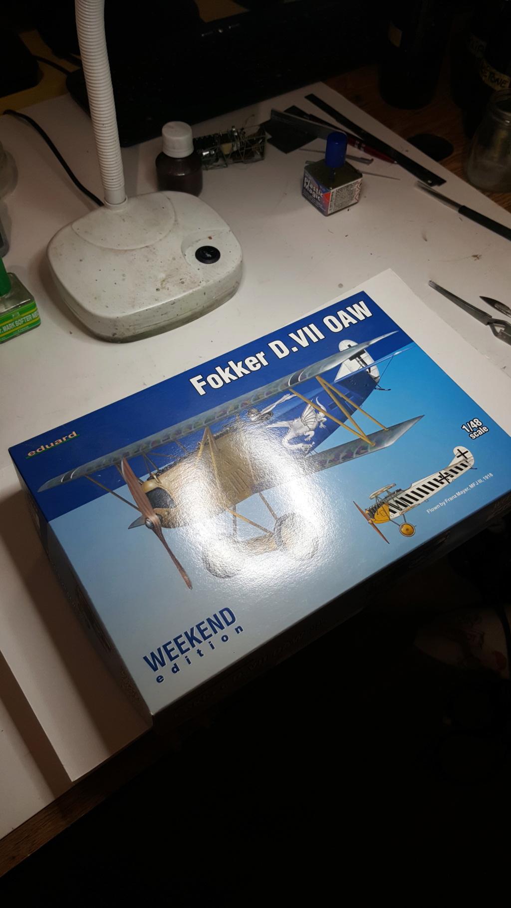 Fokker D. VII OAW - Eduard 1/48 (montage terminé) 20180109