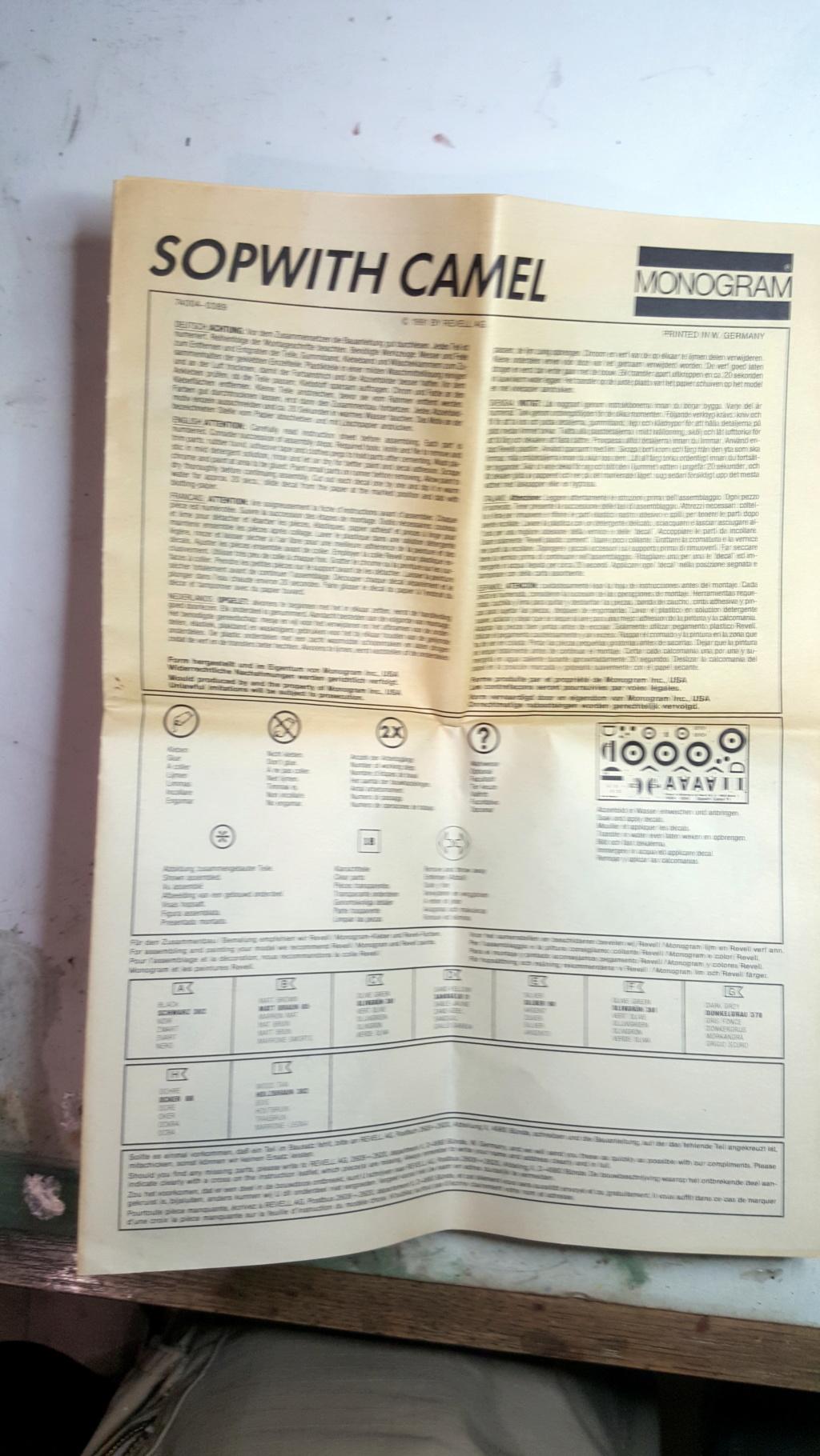 Sopwith Camel - Remise à niveau kit Aurora/Monogram (1975) - 1/48 20181238