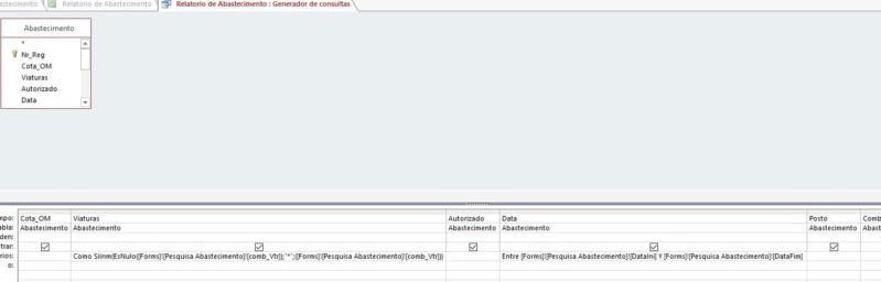 Filtro em Formulário não funciona Captur21