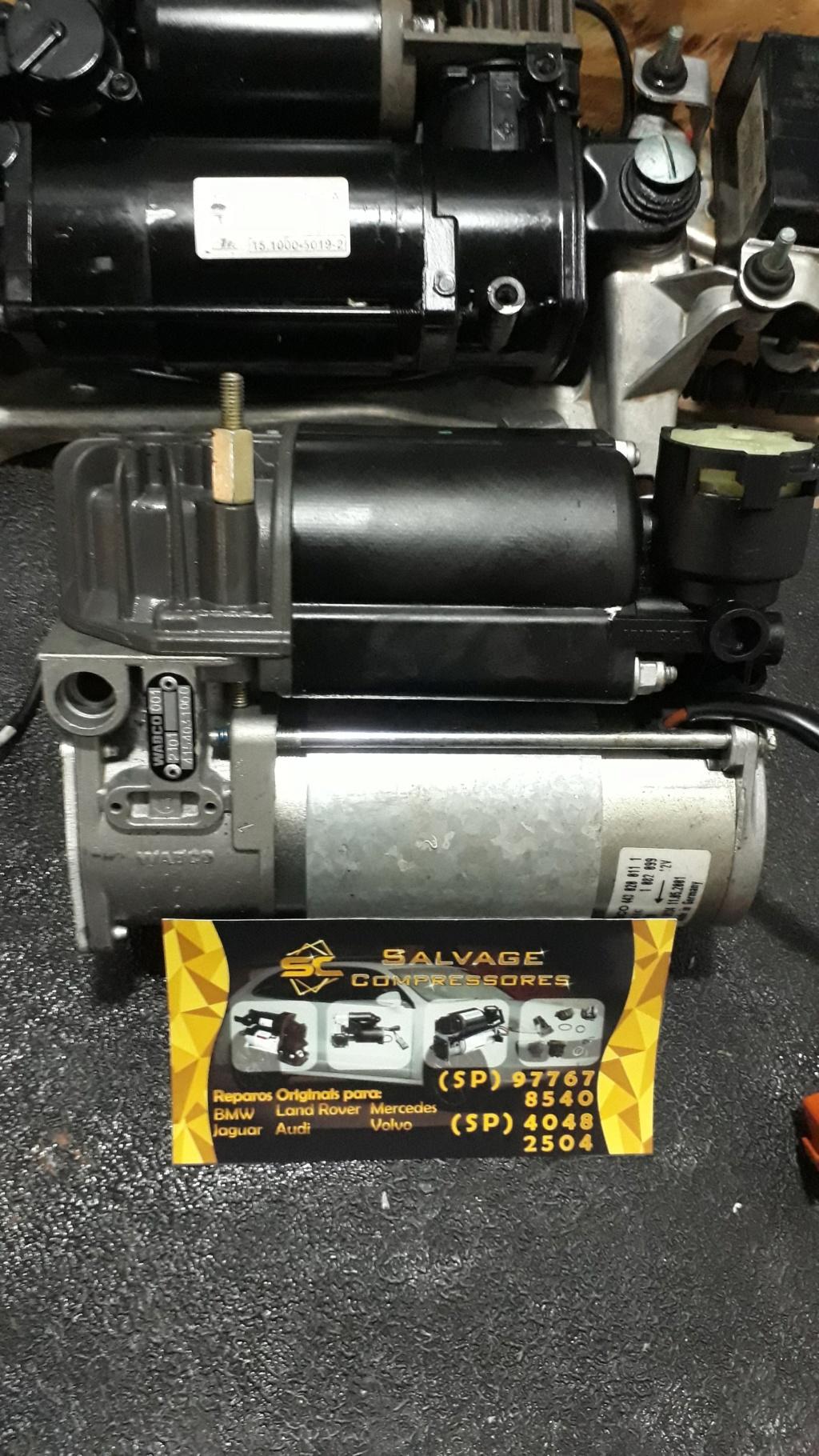 SALVAGE Compressores e bolsas do sistema airmatic remanufaturadas com padrão original Bmw_x510