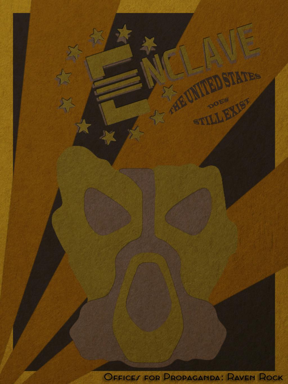Fallout Enclave Minimalist Poster Enclav10