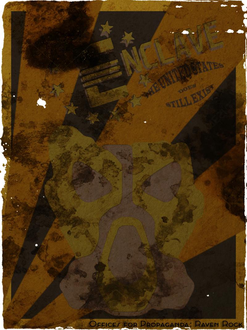Fallout Enclave Minimalist Poster Enclav12