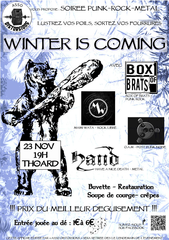 Concert rock punk metal le 23/11/18 à Thoars Affich10