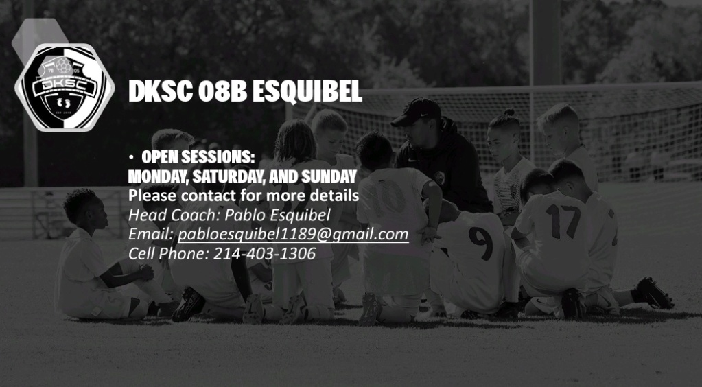 DKSC 08B ESQUIBEL looking to add 3-4 players Screen11