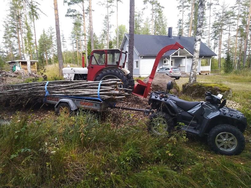 Onko kenelläkään kokemuksia TAR101 Hakkuri puulle Max.100 mm TARMO  Haketu10