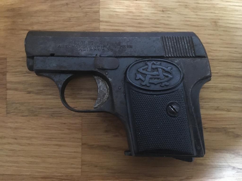 Pistolet 6,35 à identifier 00312