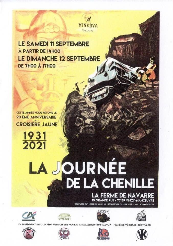 La journée de la chenille les samedi 11 et dimanche 12 septembre 2021 à la Ferme de Navarre (77) 23636110