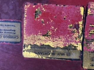 [MF 65] Pegatinas del interior del capó  19825910