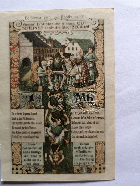 1 Markde Beckum, 1918 (Notgeld) 15911012