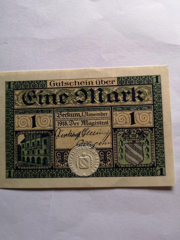 1 Markde Beckum, 1918 (Notgeld) 15911013