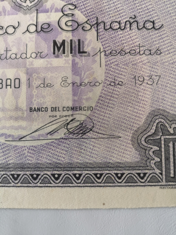 1000 pesetas Banco de España en Bilbao 1937 15925519