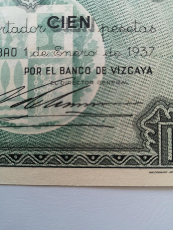100 pesetas banco de España en Bilbao 1937 15929811
