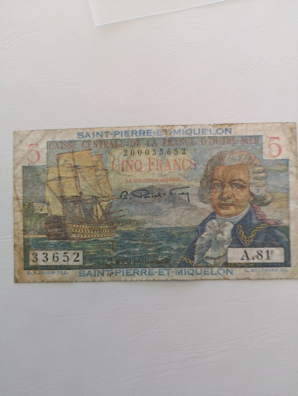 5 francos de Sant Pierre et Miquelón  15929911
