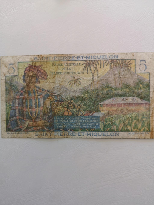 5 francos de Sant Pierre et Miquelón  15929912