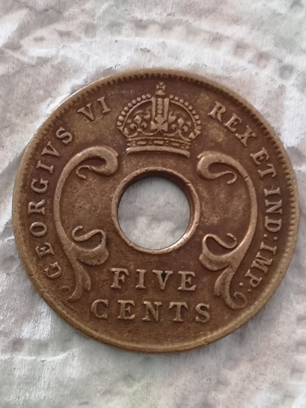 5 cents East Africa 1943 15935910