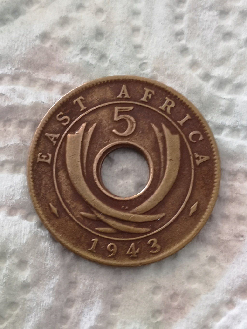5 cents East Africa 1943 15935911