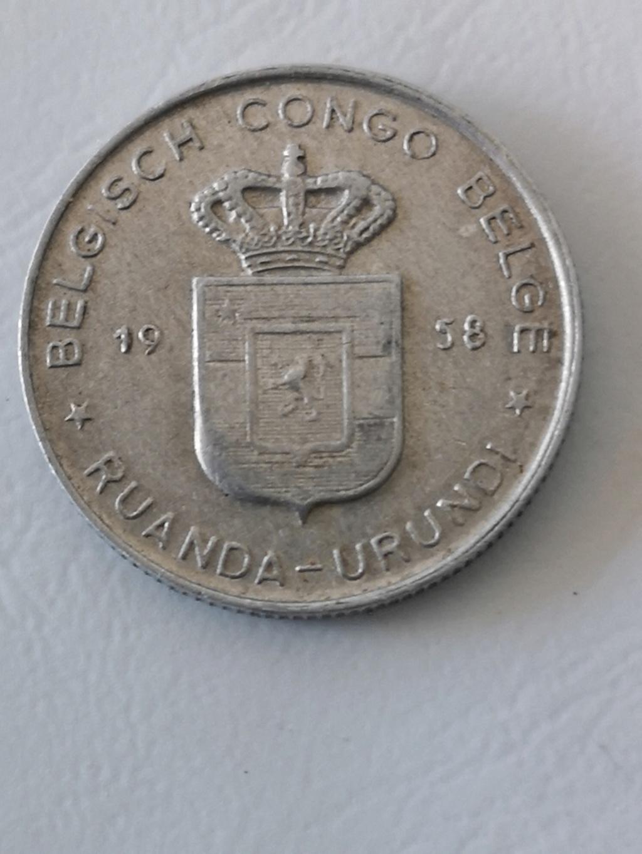 ¡¡Los 50!! 1 franco del Congo Belga de 1958 15974111